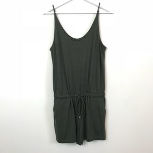 Lou & Grey Bare Romper in Olive Green